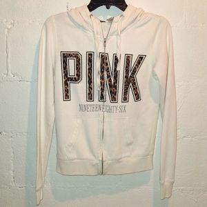 PINK Victoria's Secret RARE Cheetah Zip Hoodie XS